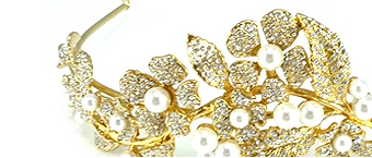 This is the place to find tiaras and hair accessories. Our spectacular tiaras from Butler & Wilson are perfect for weddings and other special occassions.