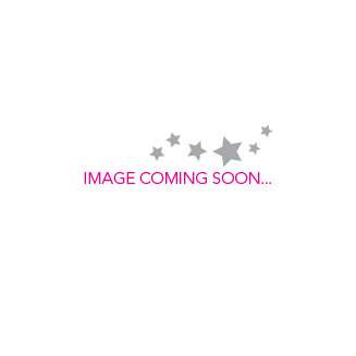 Disney Couture Sterling Silver & Crystal PRINCESS Crown Outline Necklace