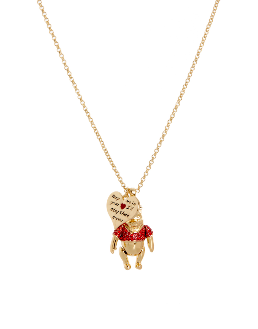 disney couture gold winnie the pooh pendant