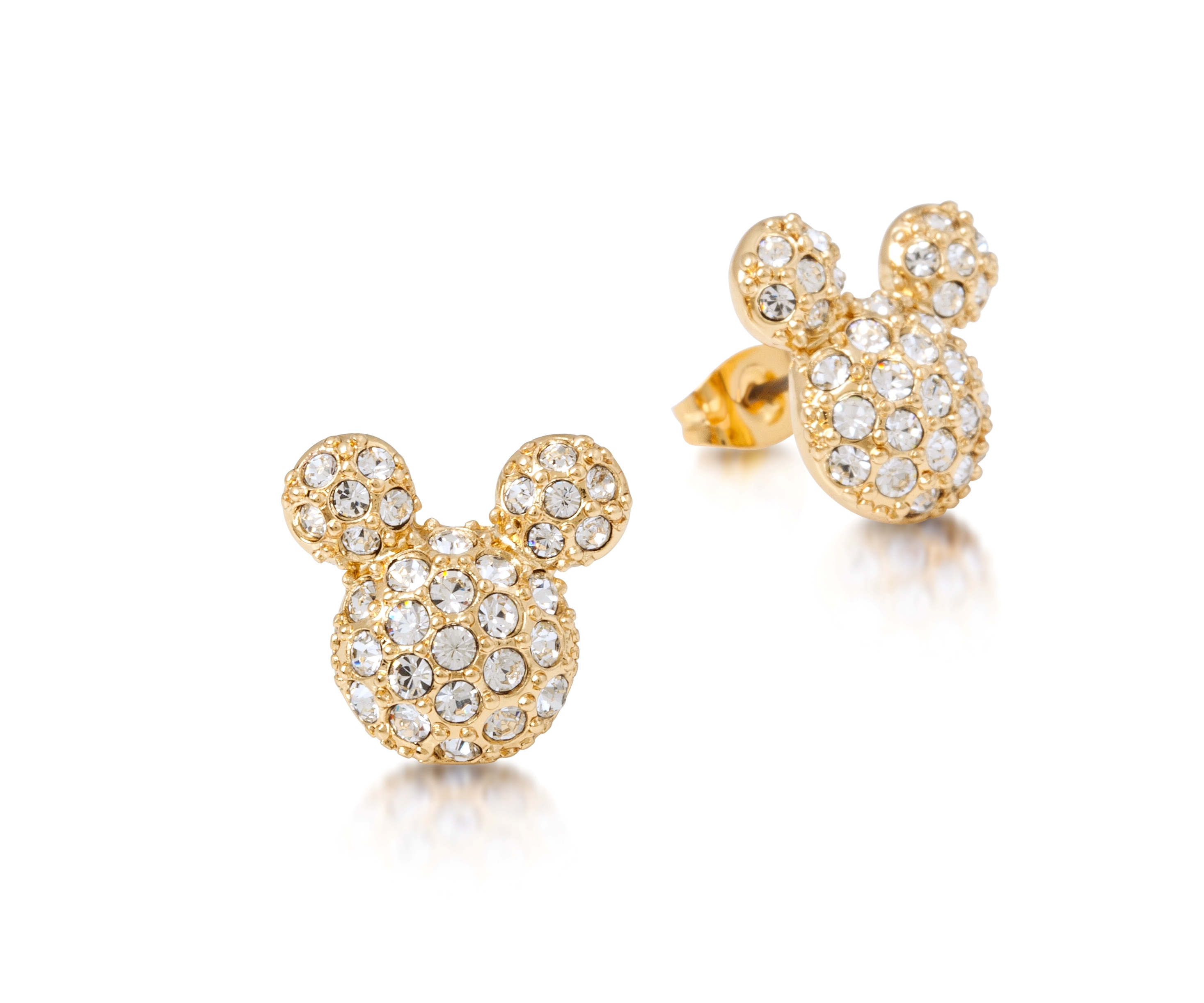 disney couture gold plated pave mickey mouse large