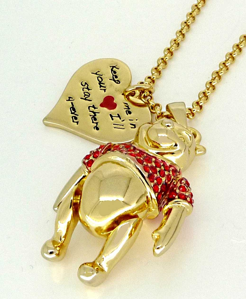 disney couture gold winnie the pooh necklace ebay