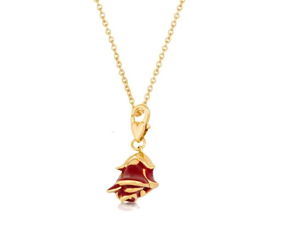 Disney couture official beauty the beast belle 39 s red for Disney beauty and the beast jewelry